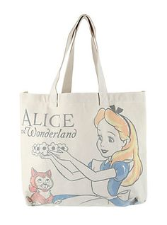 Loungefly Disney Alice In Wonderland Alice & Dinah Canvas Tote,
