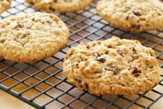 Healthy Holiday Cranberry Oatmeal Cookies-Using flaxseed instead of eggs and applesauce instead of butter, this recipe is the perfect guilt-free offering for any holiday cookie swap.