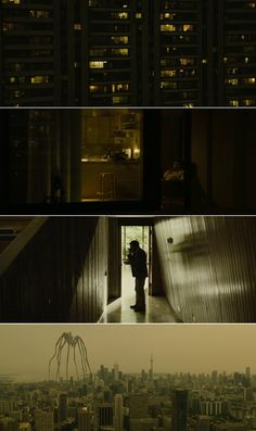 Enemy (2013) | Cinematography by Nicolas Bolduc | Directed by Denis Villeneuve | Starring: Jake Gyllenhaal, Mélanie Laurent, Sarah Gadon