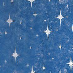 Blue w/White Twinkle Star Gossamer