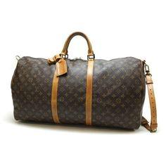 Louis Vuitton Keepall Bandouliere 60 Monogram Cross body bags Brown Canvas M41412