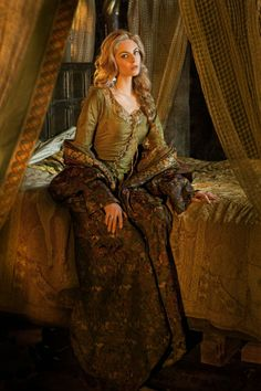 Queen Guinevere as played by Tamsin Egerton in Starz's TV series Camelot