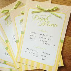 ペーパーアイテム 作り方*紙の種類 |nico◡̈*blog 手作り結婚式