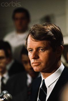 Robert Kennedy at Press Conference Presidential candidate Robert Kennedy during press conference.  Date Photographed:01 April 1968