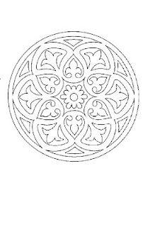 mandala hand quilt