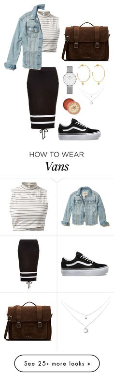 """""""Sem título #1206"""" by army-forever on Polyvore featuring Puma, Vans, Hollister Co., Dr. Martens, Daniel Wellington, Yvonne Léon and Anthropologie"""