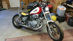 1985 xv750 virago bobber                                                                                                                                                                                 More Virago Bobber, Scrambler, Ride Or Die, Bobbers, Choppers, Cars And Motorcycles, Harley Davidson, Garage, Bike