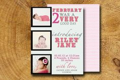Baby Girl BABY ANNOUNCEMENT custom printable by TheLudwigShop, $9.99