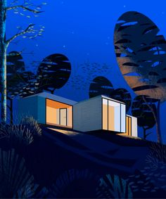 Marine Fayollas architecture illustrations