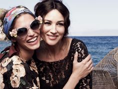 Dolce & Gabbana Women Sunglasses Advertising Campaign for Spring Summer 2013 with Monica Bellucci and Bianca Balti. Sunglasses Collection by Dolce.