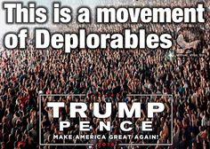 Why would you want a President who thinks you are deplorable.  Say NO TO HILLARY  We already have a president who thinks America is deplorable.