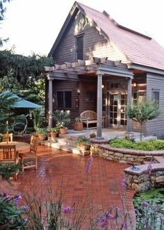 Arbor, Deck and Patio. I love everything about this.