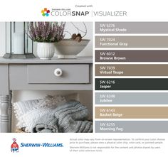 I Found These Colors With Colorsnap Visualizer For Iphone By Sherwin Williams Mystical