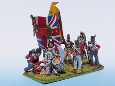 30th Foot Line Command Group painted from Tobias Kirchner (Perry Miniatures)