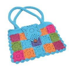 Crochetcetera and such: Colorful Motifs Bag with diagram. Looks like it could be easily adapted for book, Kindle or tablet. I really love the colors!...... ¯\_(ツ)_/¯