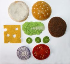 laura le birch, felted cheesburger ingredients
