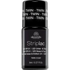 Alessandro Striplac Twin coat base & top.Onder UV / LED uithardende base en top coat voor langdurig, krasbestendig en intensief glanzend kleurlakken met