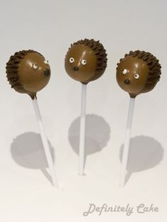 hedgehog cake pops - Google Search