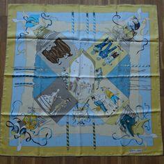 :-) Hermès jacquard Le Carnaval de Venise silk scarf for sale :-)