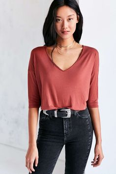 Project Social T Sapphire 3/4 Sleeve Dolman Tee - Urban Outfitters