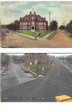 THEN & NOW Gettysburg Meade's School American Civil War, American History, Gettysburg Battlefield, Harpers Ferry, Places To See, Cool Pictures, Past, Postcards, School