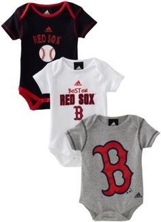 Boston Red Sox - 3 Piece Bodysuit Set. Not that my husband would let our kids wear red sox stuff.