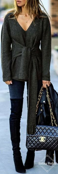 ASOS Sweater with knot Detail // Fashion Look by Sasha Simon