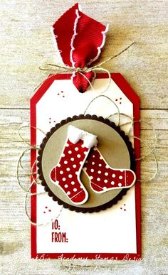 Stampin'Up! Hang your Stocking bundle. gift tag, christmas, diy