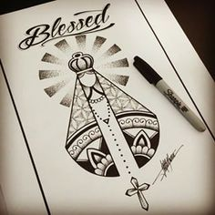 sketch blessed tattoo - Pesquisa Google