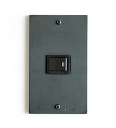 Iron switch plate