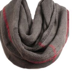Gray Parker infinity scarf 100% acrylic. Super soft material. Lewboutiquetwo Accessories Scarves & Wraps