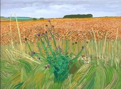 Wheat field from tunnel, by David Hockney
