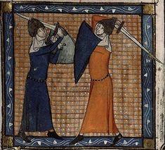 Medieval Weapons, Medieval Life, Medieval Art, Medieval Drawings, Female Armor, Female Knight, Medieval Manuscript, Illuminated Manuscript, Eslava