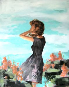 Nothing but Blue oil painting by Clare Elsaesser