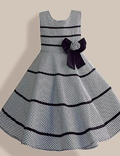 Robe Fille de Coton Organique Eté / Printemps Gris de 3815887 2016 à $22.99