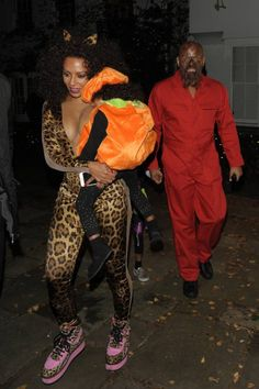 Scary Spice at Jonathan Ross Halloween party