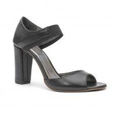 MARIBEL black high hell sandals