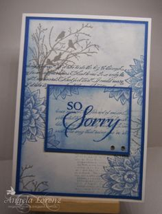 Serene Silhouettes, Background Builders, Creative Elements, So Sorry, Dictionary - Sympathy Card Stampin Up