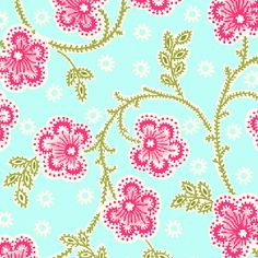Manufacturer: Henry Glass (5473-11) |  Designer: Carrie Nelson |  Collection: Nine Dots |  Print Name: Climbing Flowers in Blue