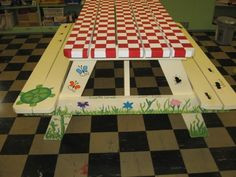 21 Best Picnic Table Painting Ideas Images Painted Picnic Tables