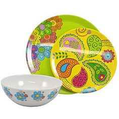 @Overstock - Tango Melamine dinnerware sets are bring life to any picnic or tabletop.  sc 1 st  Pinterest & Zak Designs® Fronds Melamine Dinnerware - Bed Bath u0026 Beyond | Pretty ...