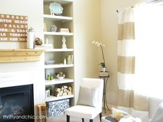 Thrifty and Chic: Striped Burlap Curtains