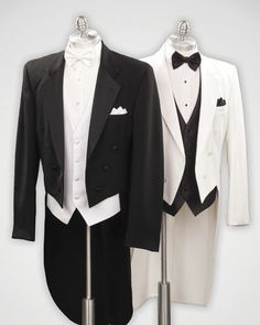 Black Fulldress/White Fulldress Tuxedo Prom, Wedding, Tip Top Tux