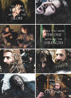 Did you ever know that you're my hero? #thehobbit