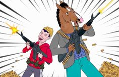 """BoJack Horseman and Todd Chavez rap along to Post Malone and 21 Savage's song """"Rockstar"""" in an amusing mashup by Mylo the Cat. Disney Channel, Cartoon Network, Friday Night Fights, Kubo And The Two Strings, Dnd Funny, Hilarious, Back In The 90s, Bojack Horseman, Cartoon Memes"""