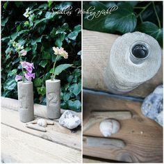 Smillas Wohngefühl: [DIY] Beton-Vasen...schlicht und schön