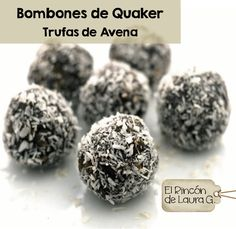 Bombones de Quaker • Trufas de Avena y Chocolate Chocolate Quaker Oats truffles Recipe is in Spanish