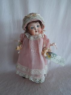 """AMAZING All Original 9"""" Ernst Heubach mold number 320 Toddler... As if from gandtiques on Ruby Lane"""