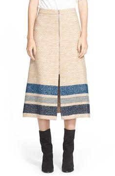 Sea Stripe Silk & Wool Midi Skirt available at #Nordstrom