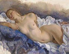 "Zinaida Serebriakova  Nudo addormentato ""Sleeping nude"" (1931)."